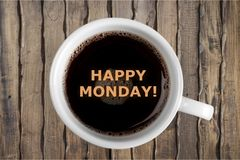 Monday. Square nobody white quote day coffee stock photography