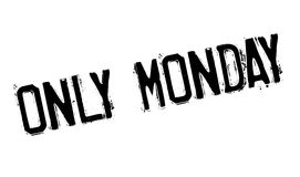 Only Monday rubber stamp Royalty Free Stock Photography
