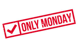 Only Monday rubber stamp Royalty Free Stock Photo
