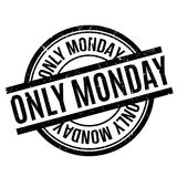 Only Monday rubber stamp Royalty Free Stock Images