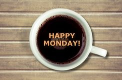 Monday. Square nobody white quote day coffee stock photo