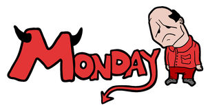 Monday symbol Stock Photo