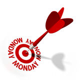 Monday Target Stock Photo