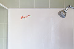 Monday thoughts in the morning shower Royalty Free Stock Photo