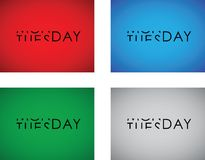 Monday to tuesday text Royalty Free Stock Image