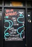 Mondays Menu at a pub royalty free stock photos