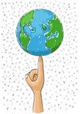 Monde à disposition Image stock