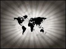 Monde âgé de carte Images libres de droits