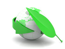 Monde écologique Image stock
