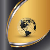 Monde élégant d'or illustration libre de droits