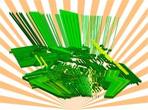 Monde électronique - vecteur 3d illustration stock
