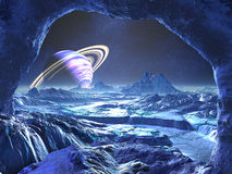 Monde étranger bleu électrique illustration de vecteur