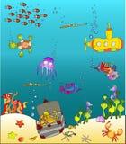 Monde 2 de mer Photos libres de droits