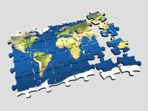 Monde 3 de puzzle Photographie stock