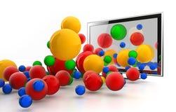 monde 3D branchant de DEL TV Photo libre de droits