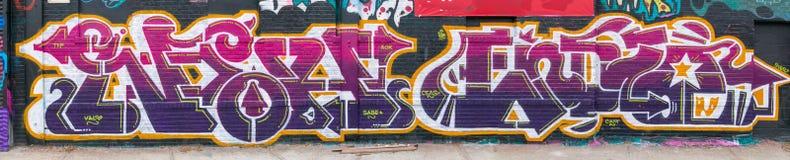 Monde abstrait coloré de graffiti Images libres de droits