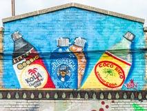 Monde abstrait coloré de graffiti Image libre de droits