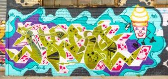 Monde abstrait coloré de graffiti Photos libres de droits