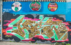 Monde abstrait coloré de graffiti Photographie stock
