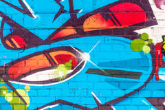 Monde abstrait coloré de graffiti Image stock