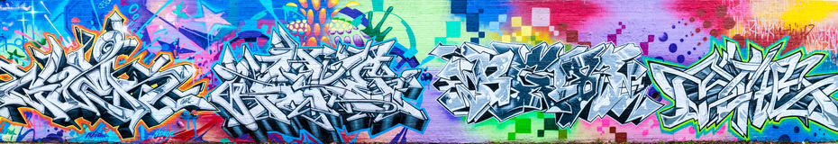 Monde abstrait coloré de graffiti Image stock