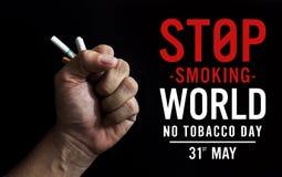 Monde aucun concept de jour de tabac photo libre de droits