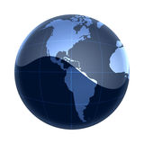 Monde bleu Amérique de carte Images libres de droits