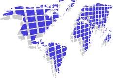 monde bleu de carte Photographie stock