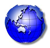 Monde bleu de rappe Image libre de droits