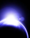 Monde bleu mystérieux Photographie stock
