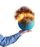 Monde brûlant images stock