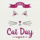 Monde Cat Day Images libres de droits