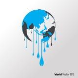 Monde chaud et vecteur de graphique de fonte Images stock