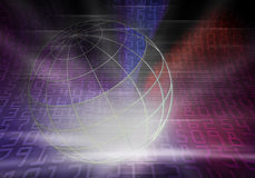 Monde codé en binaire Photo libre de droits