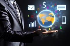 Monde d'affaires de fixation d'homme d'affaires Image libre de droits