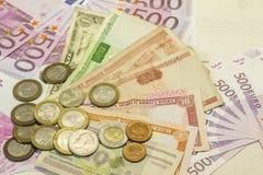 Monde d'argent Photo libre de droits