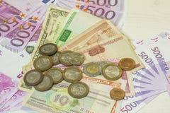 Monde d'argent Photographie stock