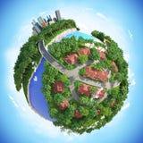 Monde 3D de planète Photos libres de droits
