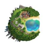 Monde 3D de planète Photo stock