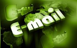 Monde d'email Photo libre de droits