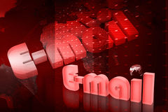 Monde d'email Photographie stock