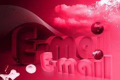 Monde d'email Image libre de droits