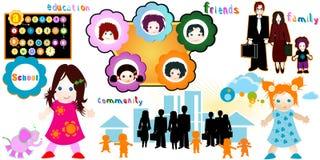 Monde d'enfants Photo libre de droits