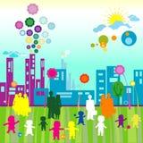 Monde d'enfants illustration libre de droits