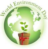 monde d'environnement de jour illustration de vecteur