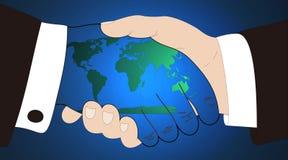 Monde dans des mains Photo libre de droits