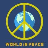 Monde dans la paix Globe Photo stock