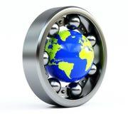 Monde dans le roulement Image stock