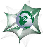 Monde dans le Web illustration stock