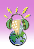 Monde de bruit Image libre de droits